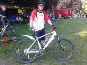 Before my first organised ride in July 2014